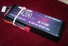 Ulti-Power 4200mAh 4s 30C T-connector